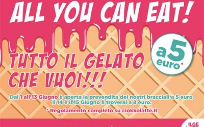 Torna a Vicenza il vero All You Can Eat del gelato !